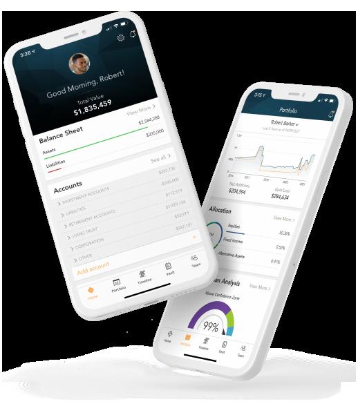 Home and Portfolio Client View App